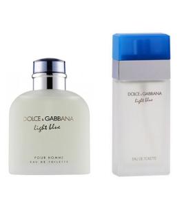 Çiftlere Özel Dolce Gabbana Set ( Dolce Gabbana Light Blue Erkek - Dolce Gabbana Light Blue Bayan )