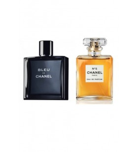 Chanel No 5 Pour Femme Edp 100 ml Bayan & Chanel Blue De Edt 100 ml Erkek Sevgili Parfüm Kombini